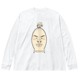 ストッキング顔 Big silhouette long sleeve T-shirts