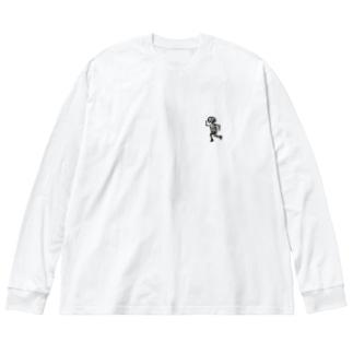 ミチョダッシュ Big silhouette long sleeve T-shirts