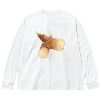 たけのこ Big silhouette long sleeve T-shirts