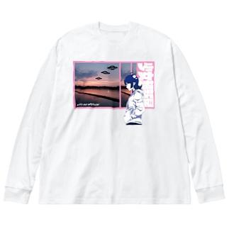 GIRLS AND SUPERNOVA #2 Big silhouette long sleeve T-shirts