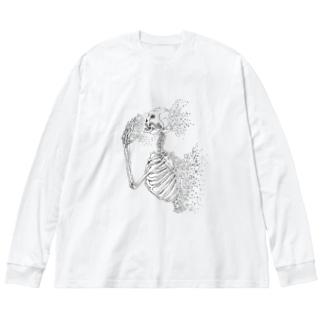 失う Big silhouette long sleeve T-shirts