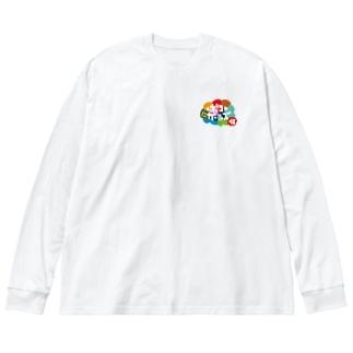 ポコガールズ(仮)裏表プリントグッズ Big silhouette long sleeve T-shirts