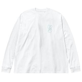 もぅふのひとふでうさぎ Big Silhouette Long Sleeve T-Shirt