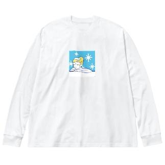 サ女子〜水風呂time〜 Big Silhouette Long Sleeve T-Shirt