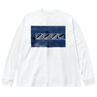 海ビル Big silhouette long sleeve T-shirts