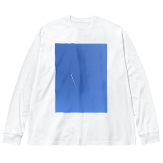フリー素材のような空 Big silhouette long sleeve T-shirts