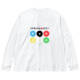 真田幸村【東京オリンピック記念】 Big silhouette long sleeve T-shirts