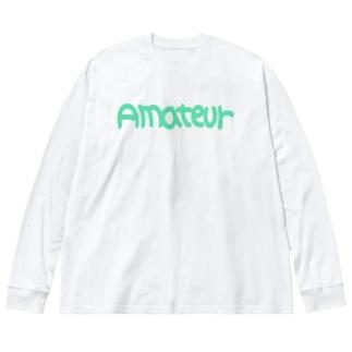 アマチュア② Big silhouette long sleeve T-shirts