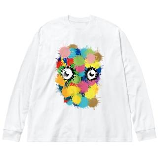 ギョロちゃん Big silhouette long sleeve T-shirts