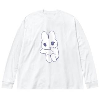 ころん、 Big silhouette long sleeve T-shirts