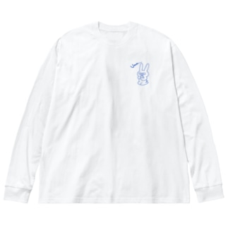ウサギのお買いもの Big silhouette long sleeve T-shirts