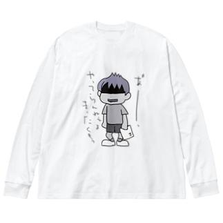 あれ~ Big silhouette long sleeve T-shirts