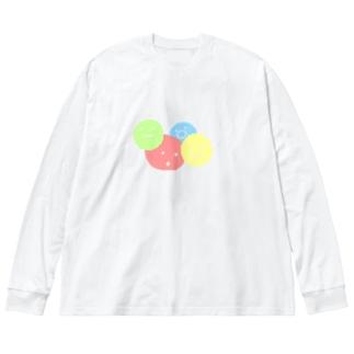 まるっまる Big silhouette long sleeve T-shirts