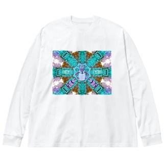 カンボジアの番人 Big silhouette long sleeve T-shirts