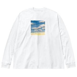 空 Big silhouette long sleeve T-shirts