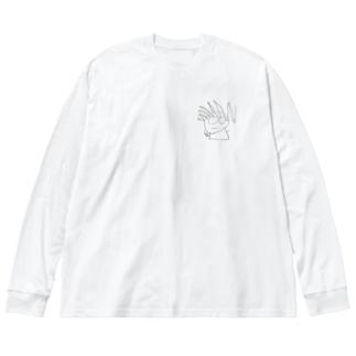 ちるどれん3 Big silhouette long sleeve T-shirts