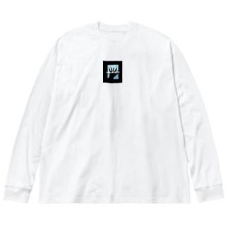 ら Big silhouette long sleeve T-shirts