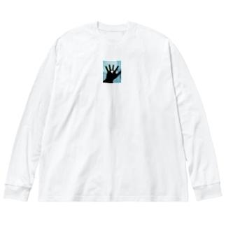 はら Big silhouette long sleeve T-shirts