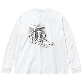 スピグラ Big silhouette long sleeve T-shirts