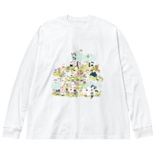おにぎり祭り2021ver.1 Big silhouette long sleeve T-shirts