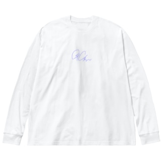 ロンT  Big silhouette long sleeve T-shirts