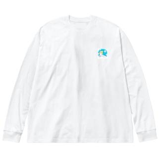サ女子〜水風呂タイム〜 Big Silhouette Long Sleeve T-Shirt