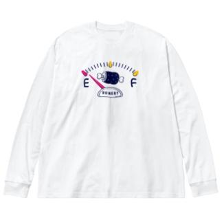 CT141 Hungry gauge Big silhouette long sleeve T-shirts