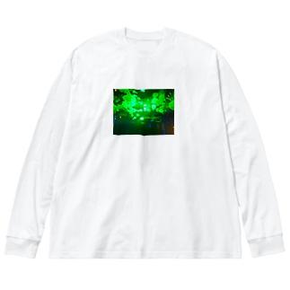 ネオンクラゲ Big Long Sleeve T-shirt