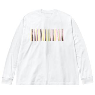 千 Big silhouette long sleeve T-shirts