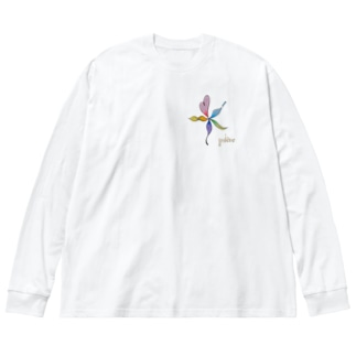 ありのまま Big silhouette long sleeve T-shirts