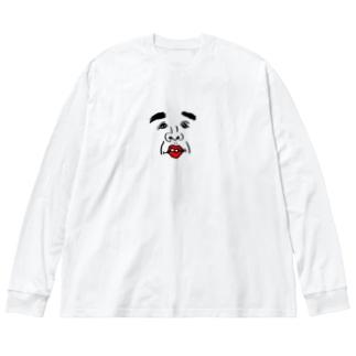 クソコラくん Big silhouette long sleeve T-shirts