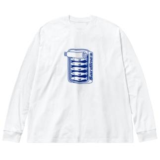 オイルサーディン Big silhouette long sleeve T-shirts