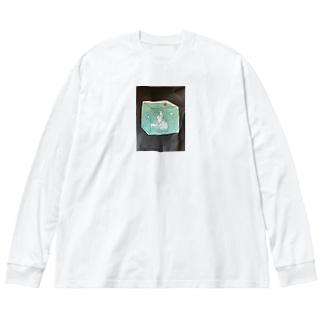小学5年生 うっちゃん Big silhouette long sleeve T-shirts