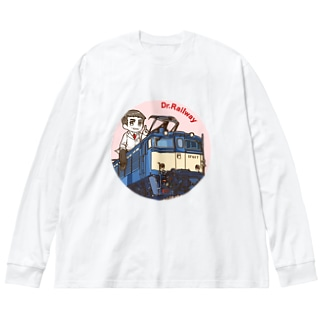 鉄道博士 EF63 Big silhouette long sleeve T-shirts