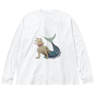 てにんぎょ Big silhouette long sleeve T-shirts