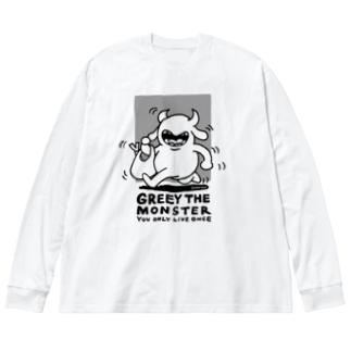 お買い物 Big silhouette long sleeve T-shirts