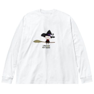 [LunaticRestaurant]魔女 Big silhouette long sleeve T-shirts