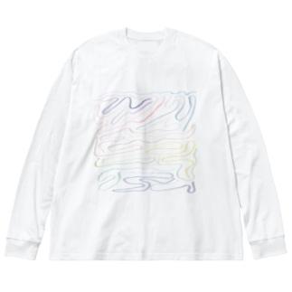 春に溺れる Big silhouette long sleeve T-shirts