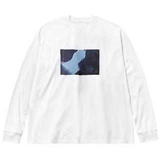 懐 Big silhouette long sleeve T-shirts