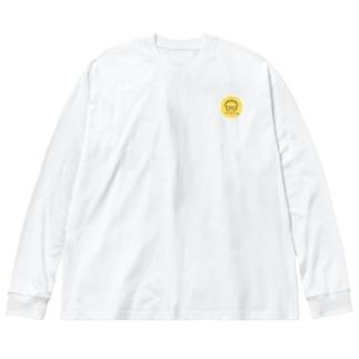 【独学応援サロン】めがねロゴ Big silhouette long sleeve T-shirts