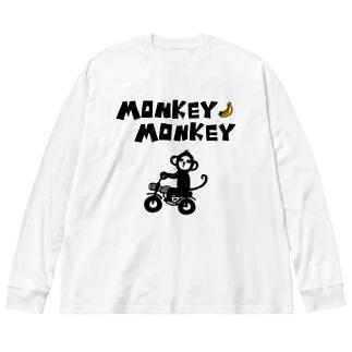 モンキーモンキー Big silhouette long sleeve T-shirts