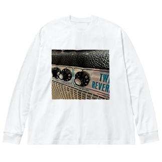 ギターアンプB Big silhouette long sleeve T-shirts