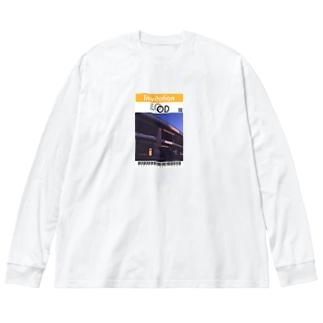 Bridge & sky Ticket Big silhouette long sleeve T-shirts