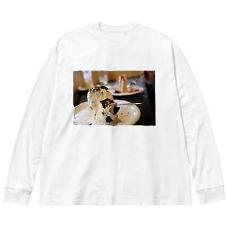 シフォンケーキ Big silhouette long sleeve T-shirts