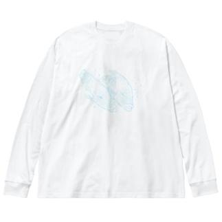 爽やかなナポレオンフィッシのカップル Big silhouette long sleeve T-shirts