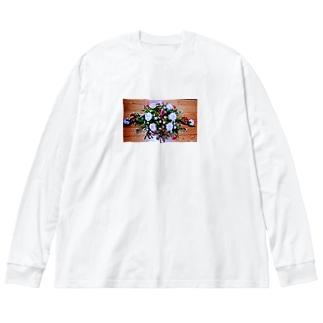ソフィフラワー Big silhouette long sleeve T-shirts