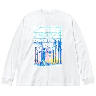 矢ヶ崎第一閉そく信号機(碓氷線) Big Silhouette Long Sleeve T-Shirt