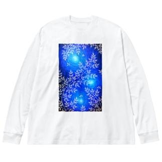時澗の森 Big silhouette long sleeve T-shirts