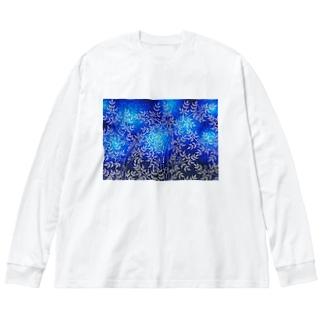 森の猫たち Big silhouette long sleeve T-shirts