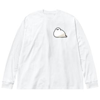 もちもちあざらし Big silhouette long sleeve T-shirts